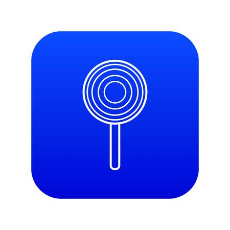 Lollipop icon blue vector isolated on white background