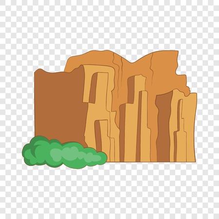 Sandstone cliffs, Talampaya National Park icon Illustration