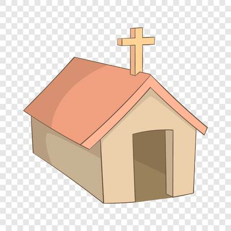 The church in the village of Indians, North Argentina icon. Cartoon illustration of the church in the village of Indians, North Argentina vector icon for web Иллюстрация