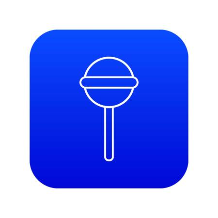 Round lollipop icon blue vector isolated on white background