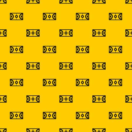 Futsal or indoor soccer field pattern seamless vector repeat geometric yellow for any design