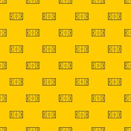 Ice hockey rink pattern seamless vector repeat geometric yellow for any design Ilustração