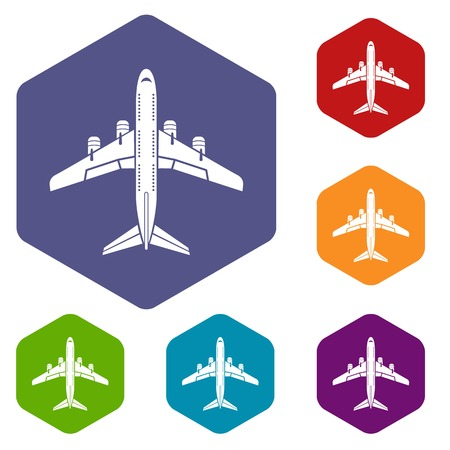 Flying plane icon, simple style