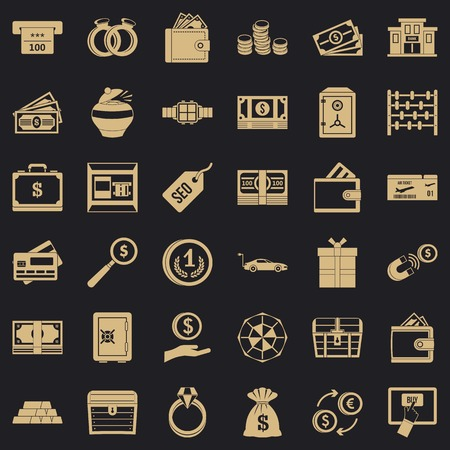 Sum icons set. Simple set of 36 sum vector icons for web for any design