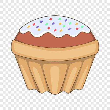 Easter cake icon, cartoon style