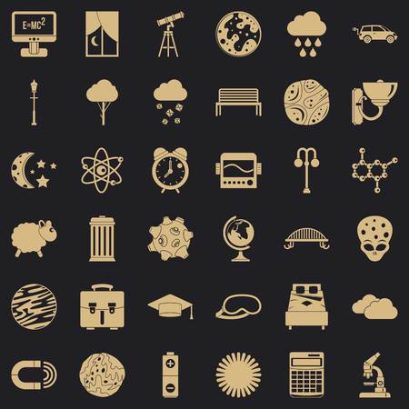 Universe icons set. Simple set of 36 universe vector icons for web for any design Archivio Fotografico - 130244105