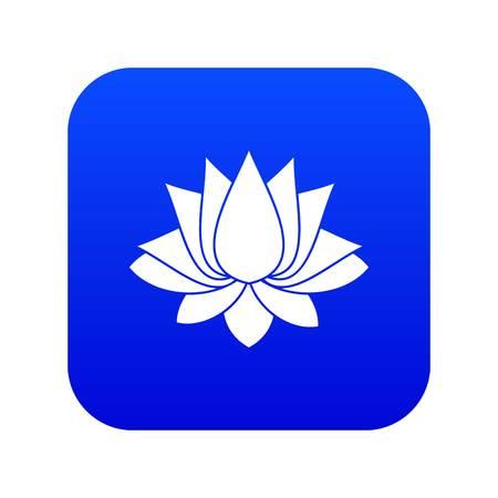 Lotus icon digital blue
