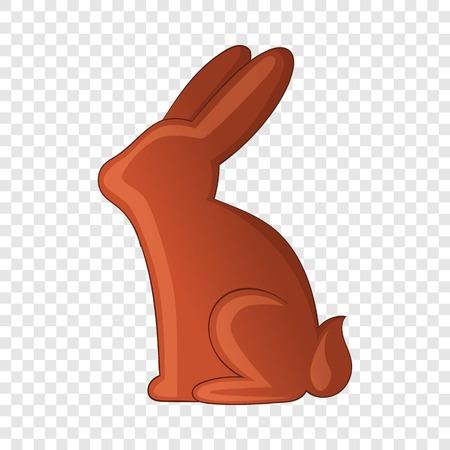 Chocolate bunny icon, cartoon style