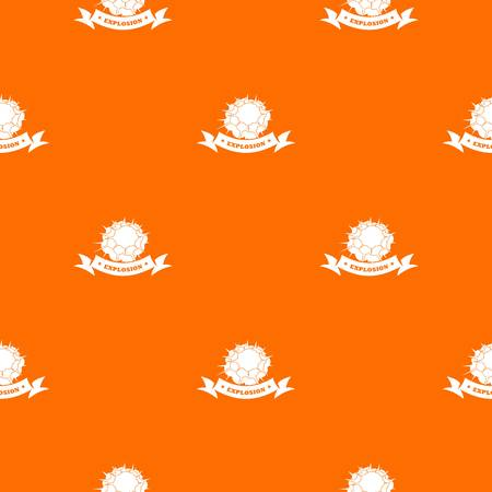 Atomic explosion pattern vector orange