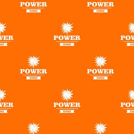 Power pattern vector orange