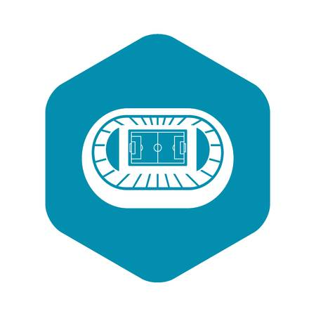 Stadium top view icon, simple style Vettoriali