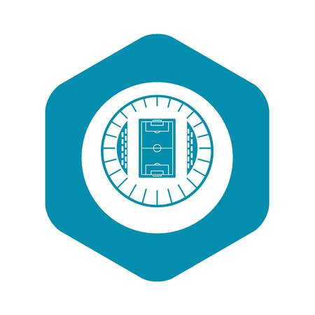 Round stadium top view icon in simple style on a white background vector illustration
