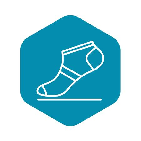 Summer sock icon, outline style