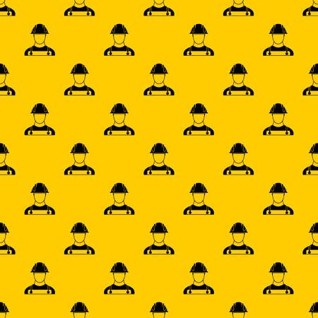 Builder pattern seamless vector repeat geometric yellow for any design  イラスト・ベクター素材