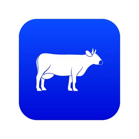 Cow icon digital blue Illustration