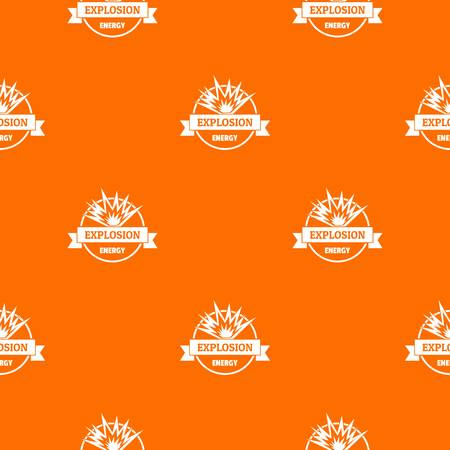 Energy explosion pattern vector orange