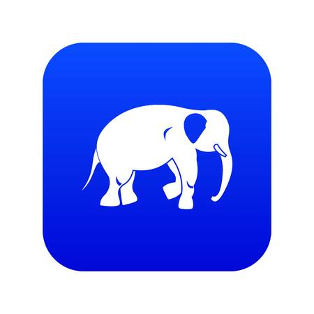 Elephant icon digital blue