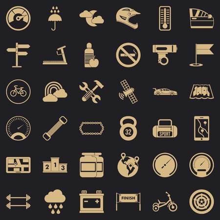 Car owner icons set. Simple set of 36 car owner vector icons for web for any design Çizim