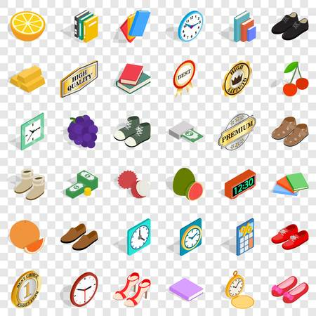 Thinness icons set, isometric style Çizim