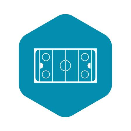 Ice hockey rink icon in simple style on a white background vector illustration