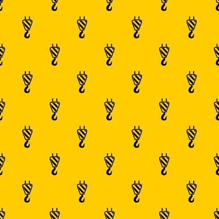 Crane hook pattern seamless vector repeat geometric yellow for any design  イラスト・ベクター素材
