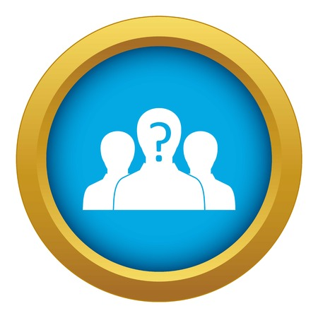 Group of people with unknown personality icon blue vector isolated on white background for any design