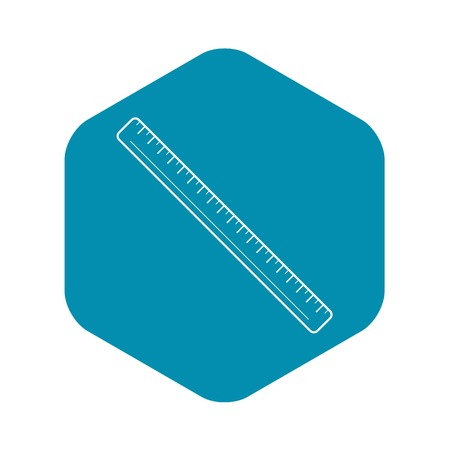Inch icon, outline style