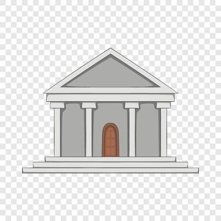 Big building icon, cartoon style