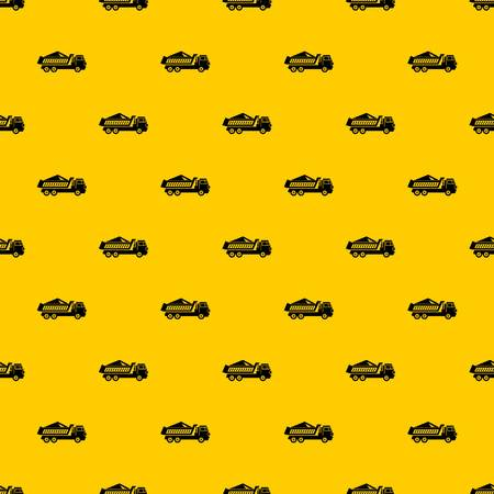 Dump track pattern seamless vector repeat geometric yellow for any design