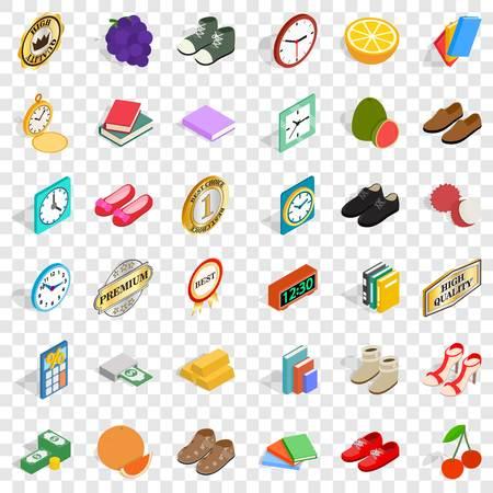 Skill icons set, isometric style Çizim