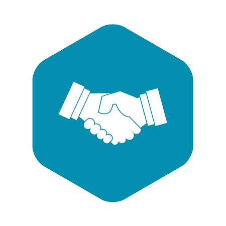 Handshake icon in simple style on a white background vector illustration