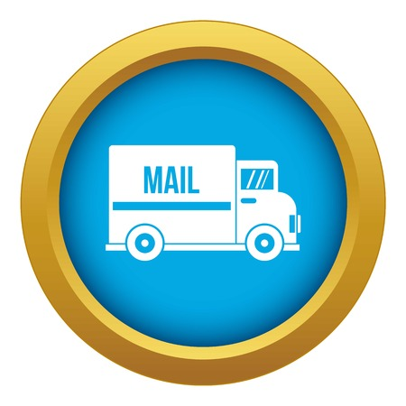 Mail truck icon blue vector isolated on white background for any design Archivio Fotografico - 130244226