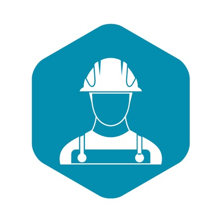 Builder icon in simple style on a white background vector illustration Illusztráció