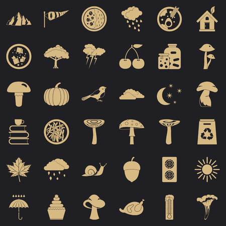 Forestation icons set. Simple set of 36 forestation vector icons for web for any design Ilustrace