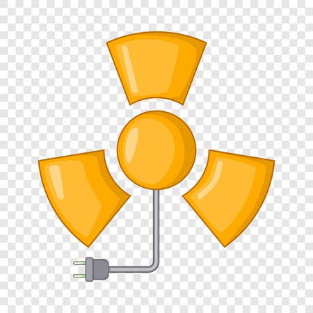 Icona di radiazioni, stile cartone animato Vettoriali