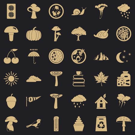 Forest plantation icons set. Simple set of 36 forest plantation vector icons for web for any design