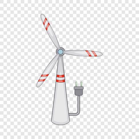 Windmill icon, cartoon style Ilustrace