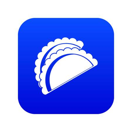 Empanadas de pollo icon digital blue for any design isolated on white vector illustration