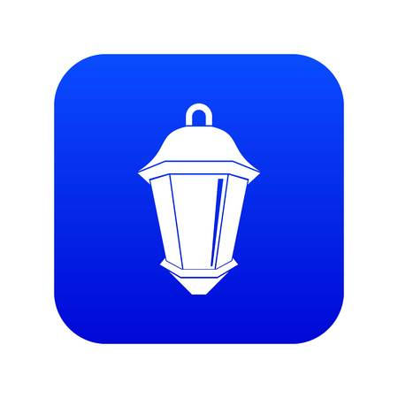Street light icon digital blue