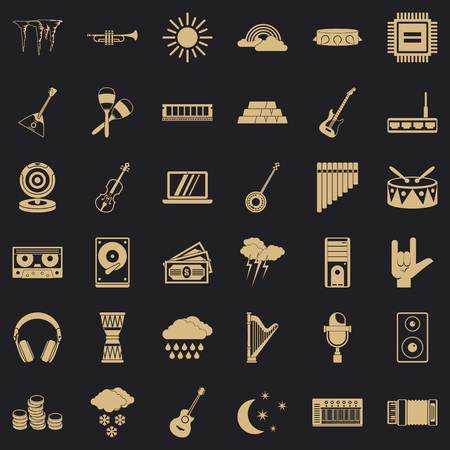 Sound festival icons set. Simple set of 36 sound festival vector icons for web for any design