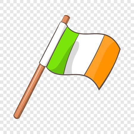 Ireland flag icon, cartoon style