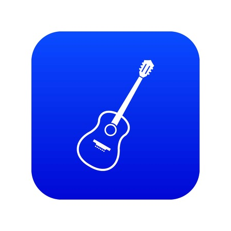 Charango icon digital blue for any design isolated on white vector illustration