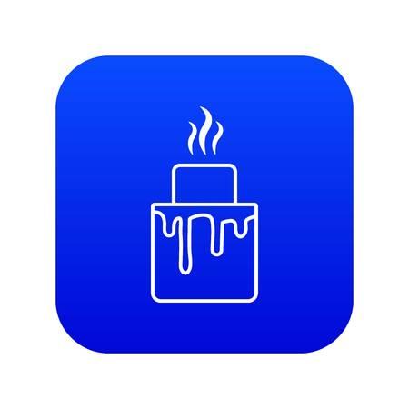 Empanadas icon blue vector isolated on white background