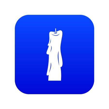 Wax candle icon digital blue