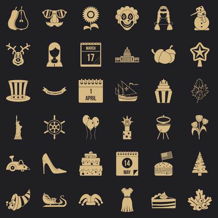 Folklore icons set. Simple set of 36 folklore vector icons for web for any design