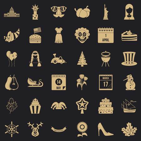 Folklore festival icons set. Simple set of 36 folklore festival vector icons for web for any design Иллюстрация