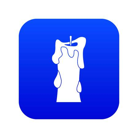 Thick candle icon digital blue