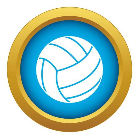 Black volleyball ball icon blue vector isolated on white background for any design