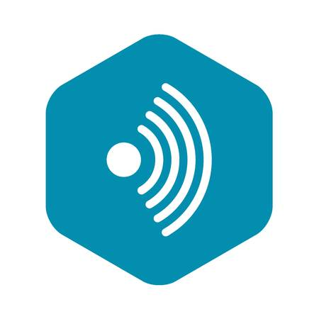 Wireless network symbol icon, simple style Çizim