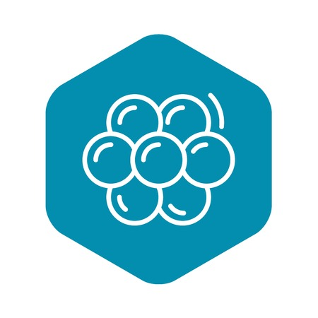 Caviar icon, outline style